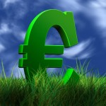 Euro in grass (PD)