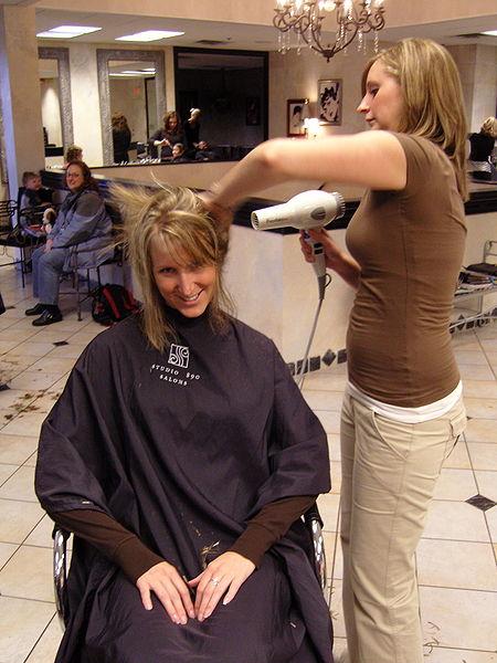 Hair Stylist by bradleypjohnson via Wikimedia Commons