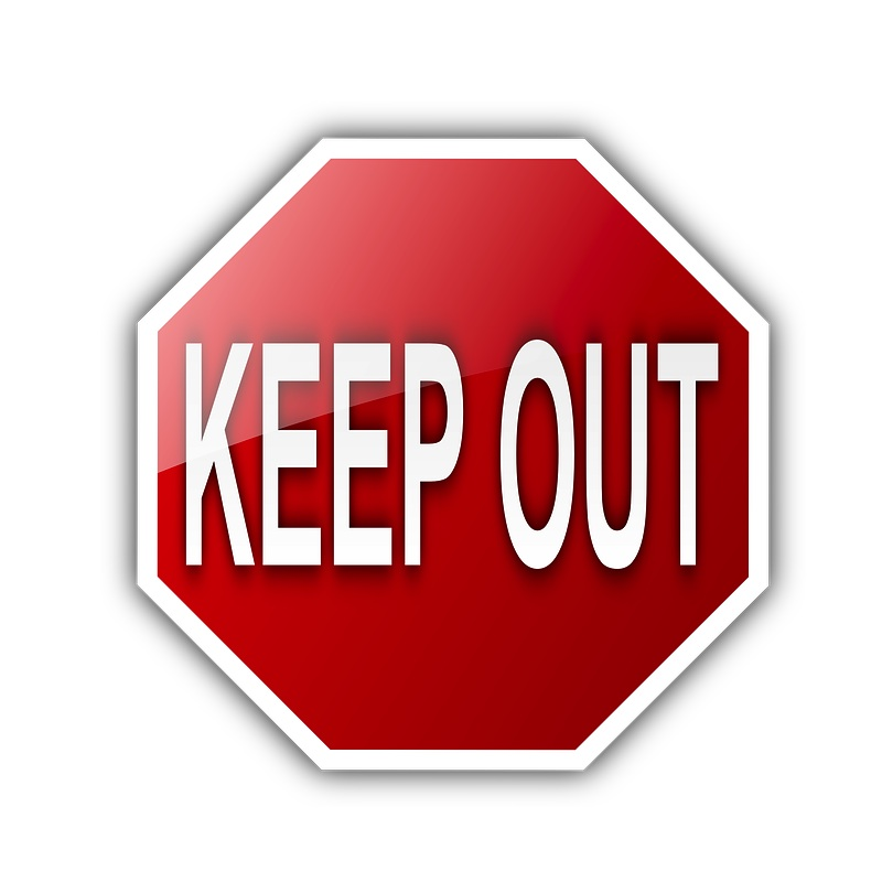 Keep Out Sign (PD)