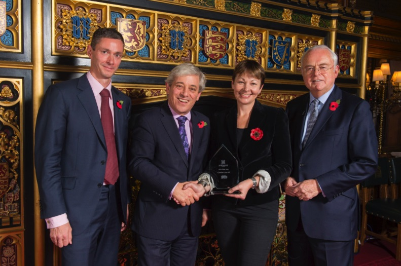 Caroline Lucas MP of the year 2014