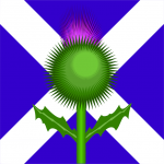 Scotland Flag Thistle (PD)