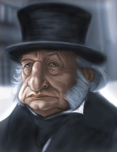 George C. Scott as Scrooge by Robert Doucette