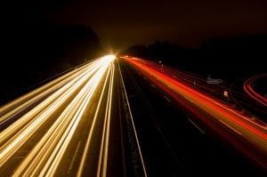 Highway at night (PD)