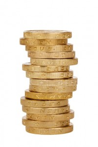 Column of GBP coins