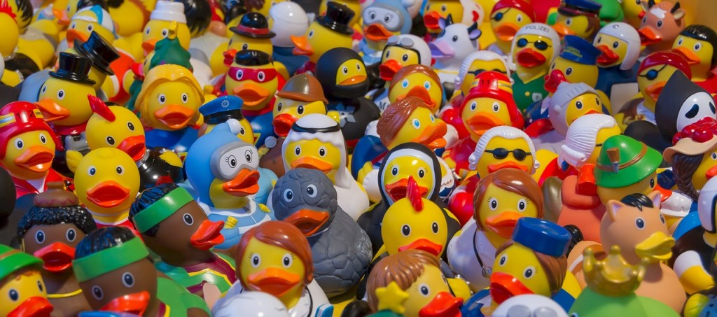 Plastic toy ducks (PD)