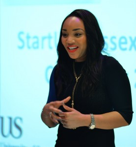 Bianca Miller BBC The Apprentice finalist presented the 2015 StartUp Sussex Awards for young entrepreneurs at the University of Sussex