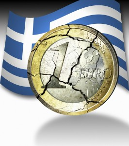 Euro and Greek Flag (PD)