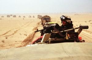 UK Soldier in Desert Storm (PD)