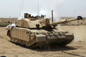 Challenger II MBT in Iraq by Graeme Main-MOD (OGL)