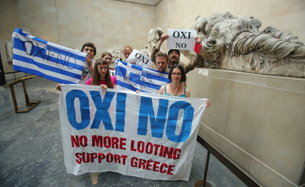 Greece solidarity protest at British Museum #OXI