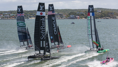 Louis Vuitton America's Cup World Series racing surges into Gothenburg