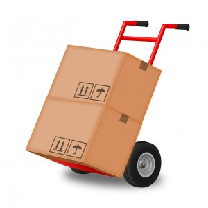 Boxes and cart (PD)