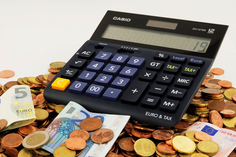 Calculator and Money (PD)
