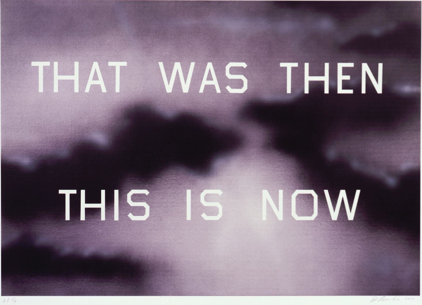 ed ruscha presents christmas gift to the nation the economic voice ruscha that was then this is now