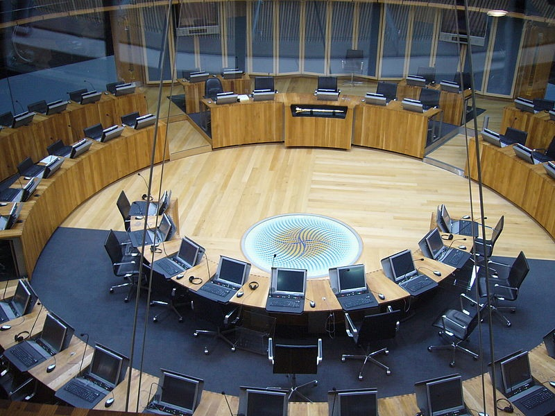 Welsh Assembly debating chamber (PD)