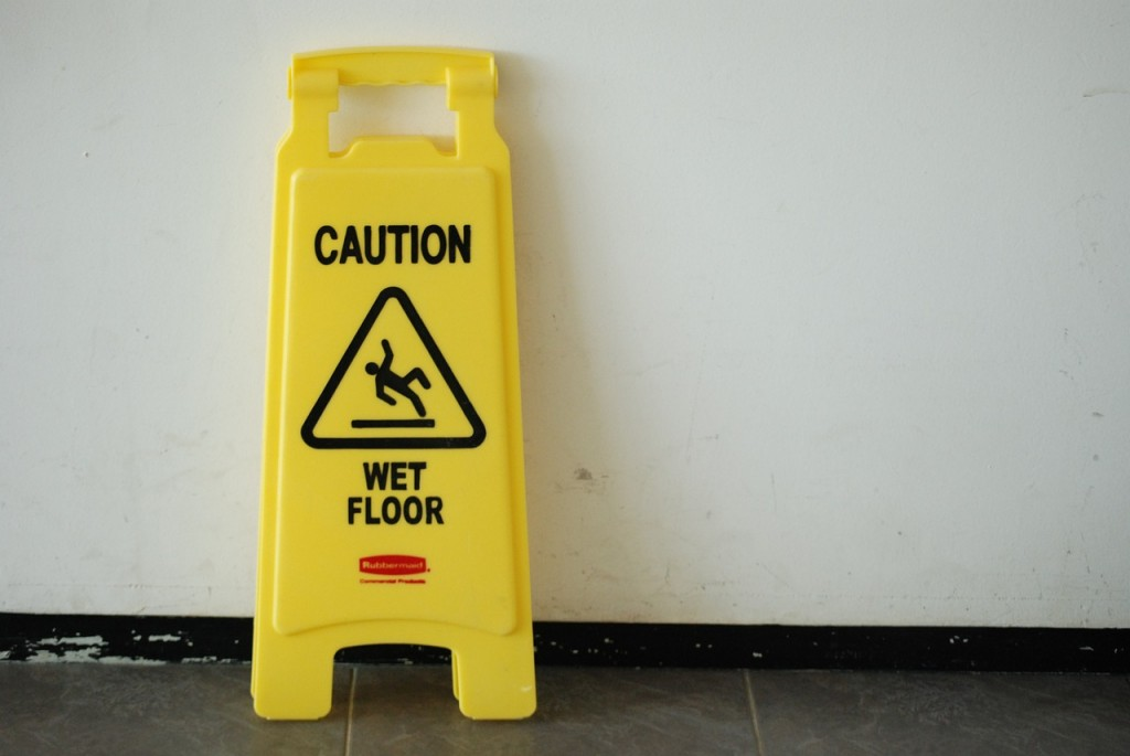 Wet floor warning (PD)
