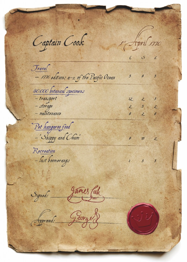 Captain Cook Expenses Claim