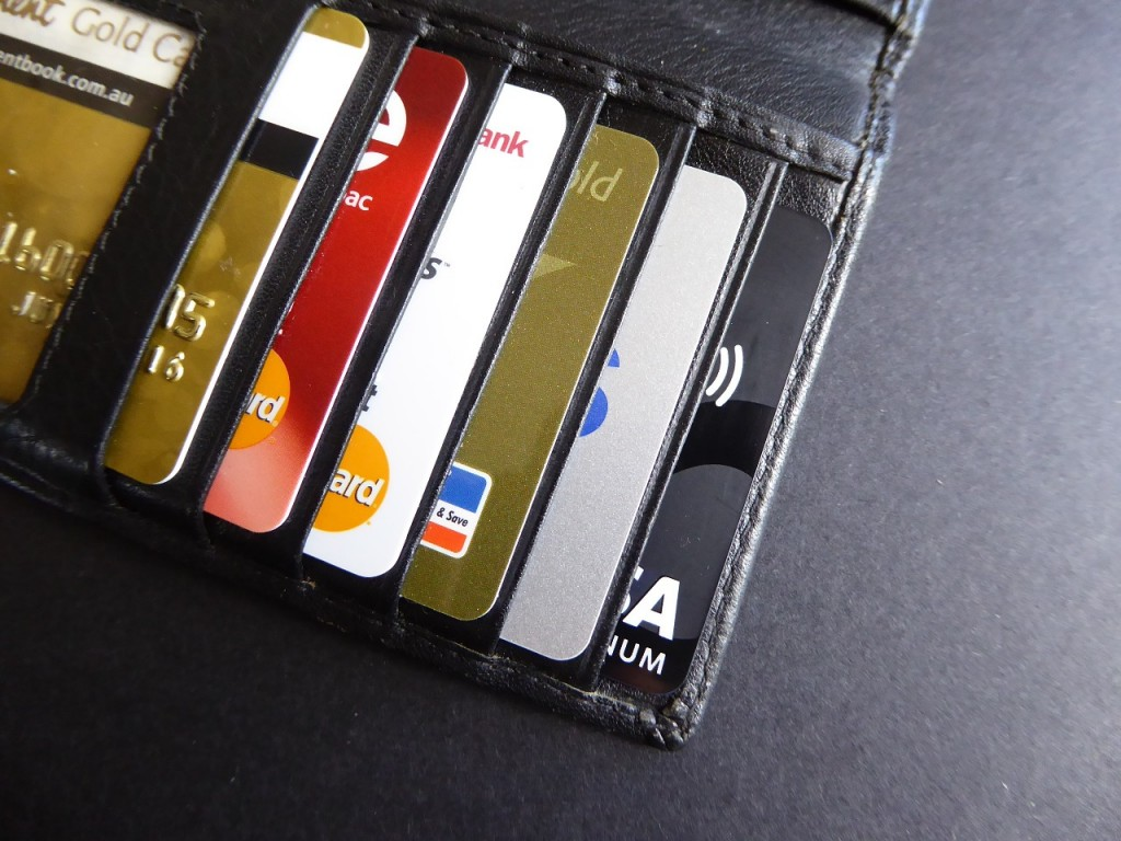 Credit Cards in wallet (PD)
