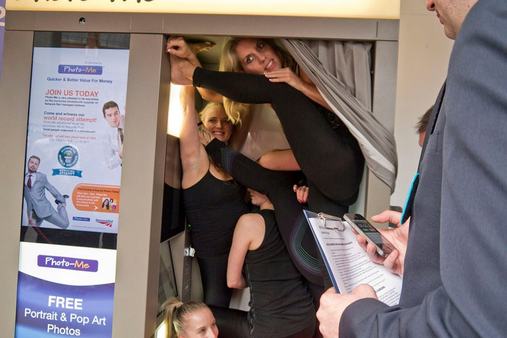 Photo-Me world record for number of people crammed inside a photo booth 4th July 2012 By Bryan Ledgard (CC-BY-2.0)