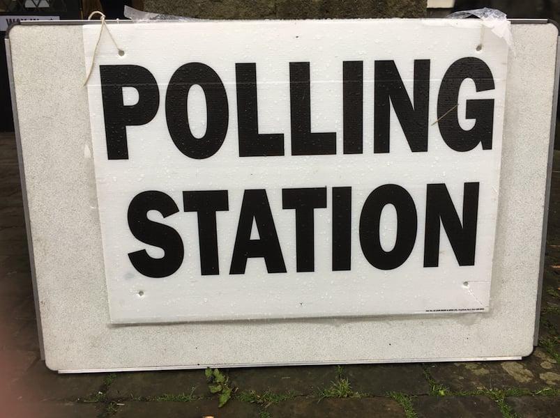 Polling Station Sign 1 (LGT)