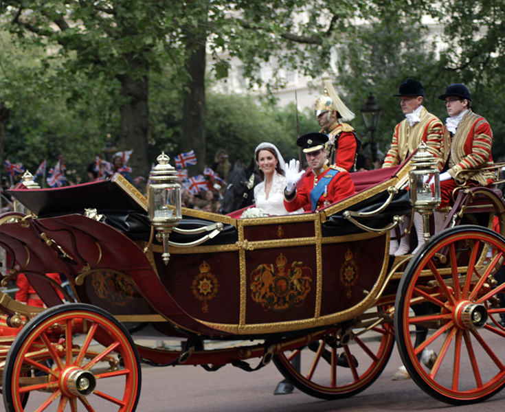 Wedding of Prince William of Wales and Kate Middleton By Robbie Dale (CC-BY-SA-2.0)