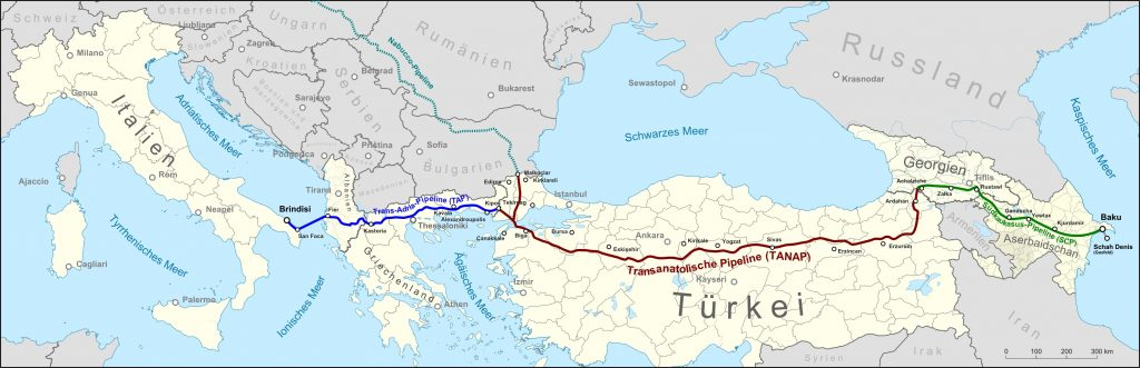 Southern Gas Corridor By Pechristener (CC-BY-SA-2.0)