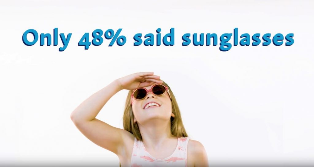 Take childrens sunglasses on holida