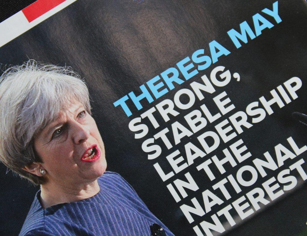 Threresa may Tory Leaflet