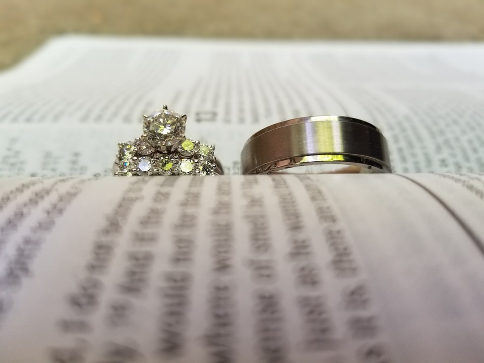 Wedding Rings and Bible (PD)