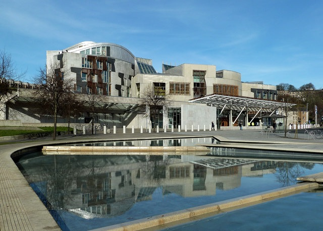 Scottish Parliament building by Mary and Angus Hogg (CC-BY-SA-2.0)