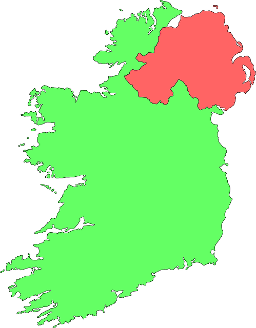 Ireland map (PD)