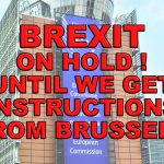 Brexit is on hold until we get instructions from Brussels!